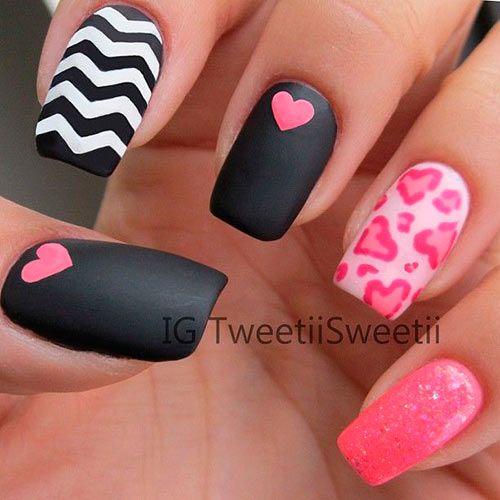 Дизайн ногтей ко дню всех влюбленных