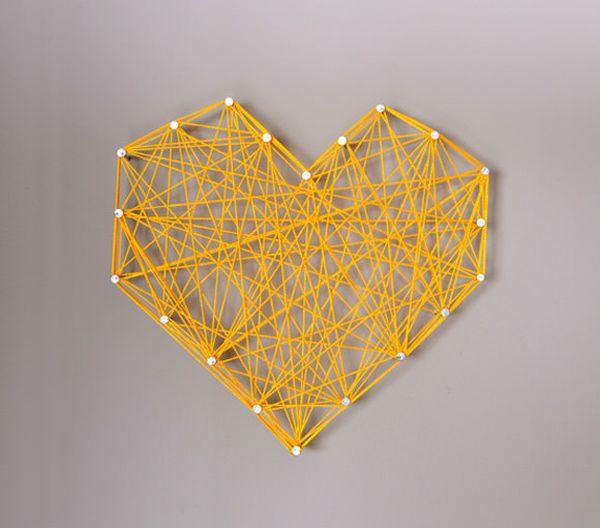 DIY-threaded-string-heart-in-yellow