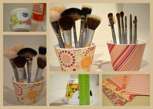 Painted-Brush-Holder