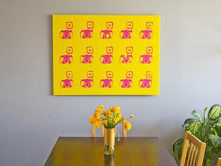 Wandbilder-selber-machen-Wohnzimmer-moderne-Kunst-DIY