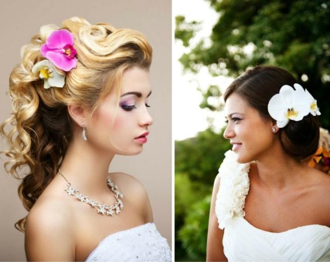 Простые прически у невесты