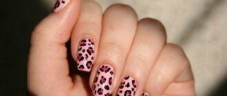 Дизайн ногтей Принты животных