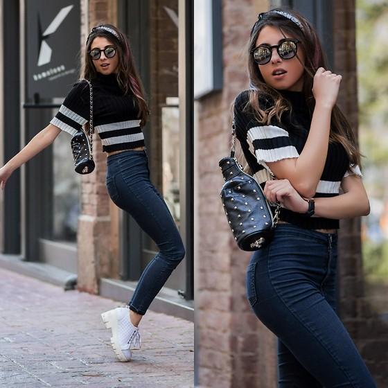 джинсы и топ