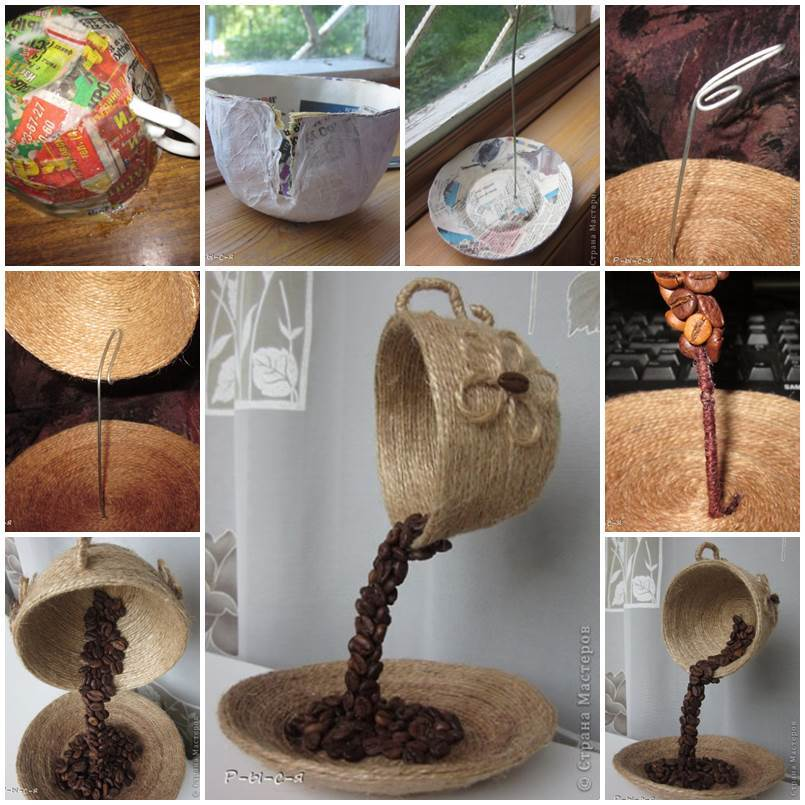 DIY-Unique-Table-Decor-with-Coffee-Beans-1