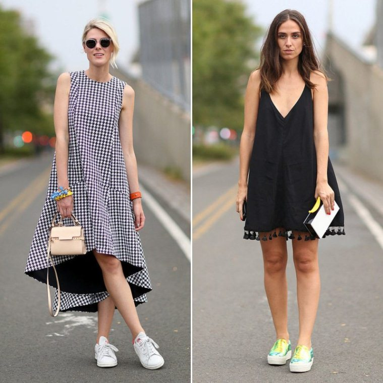 How-Wear-Sneakers-Dresses