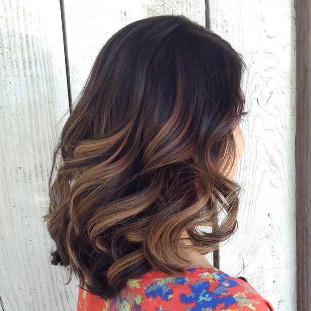 Окрашивание-балаяж-на-темные-волосы-1