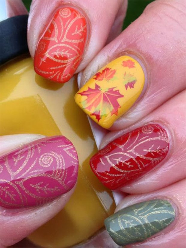 Autumn-Nail-Art-Designs