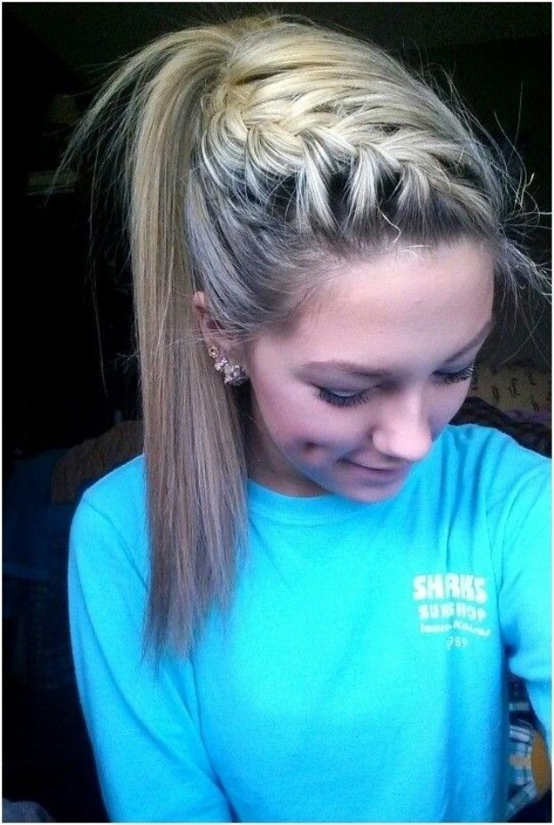 Braid-with-High-Ponytail-Pretty-Hairstyles-for-School