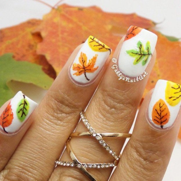 Leaves-fall-nail-art-ideas-21