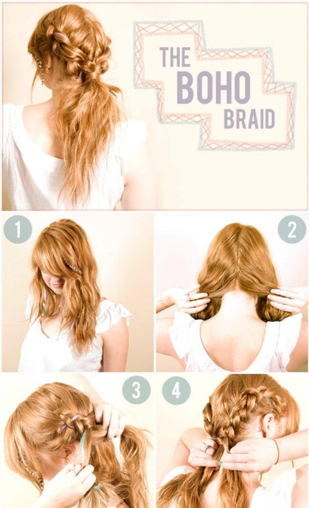 Уроки по созданию простых причесок из кос