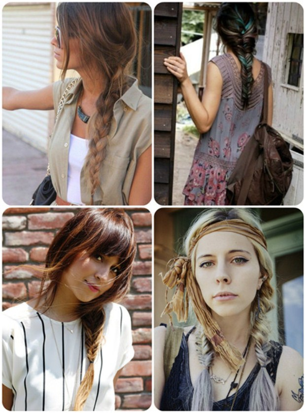 ombre-color-braided-ponytail-and-fishtail-with-human-hair-extensions-clip-on