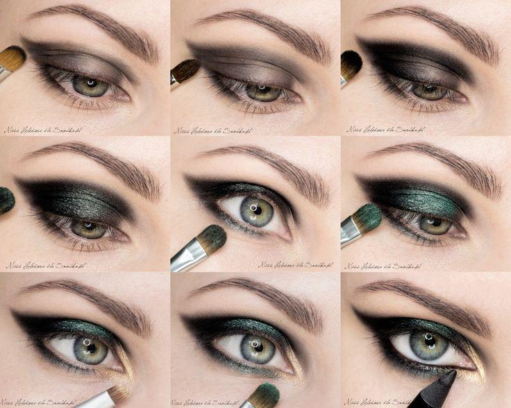 Макияж для зеленых глаз - варианты