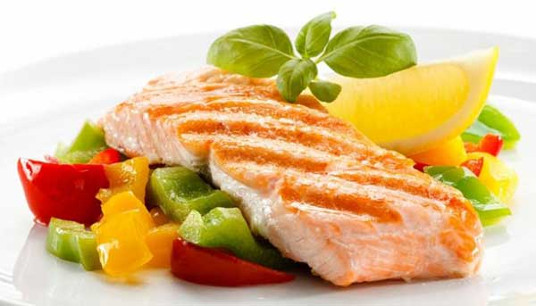 Мясная диета меню - лосось