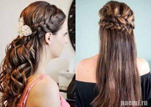 причёска с плетением
