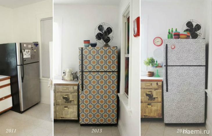 Декупаж для старого холодильника