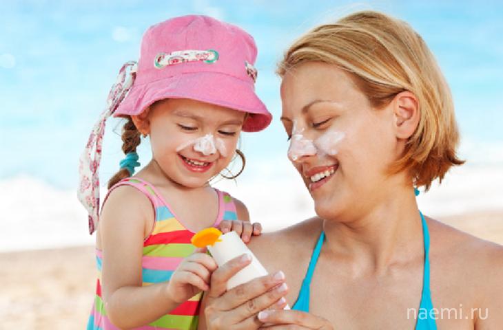 Солнцезащитный крем детский