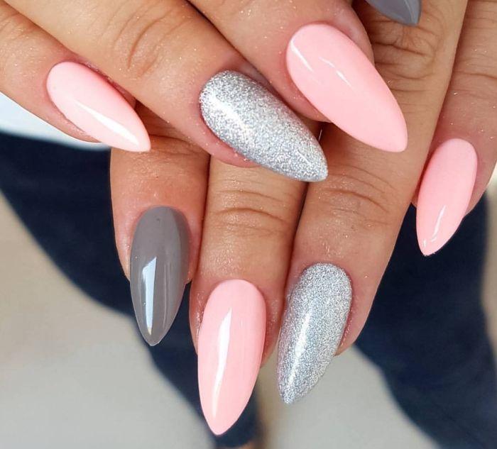 ногти миндалевидной формы дизайн