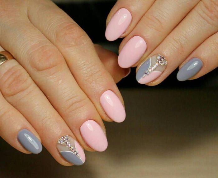 дизайн ногтей на короткие ногти овальной формы для женщин