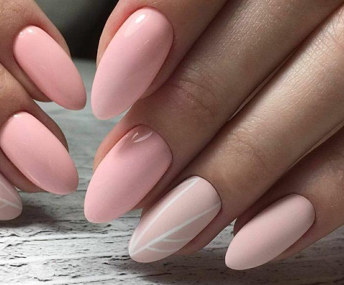 овальная форма ногтей красивая
