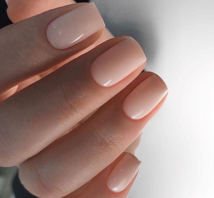 Мягкий квадрат короткие ногти
