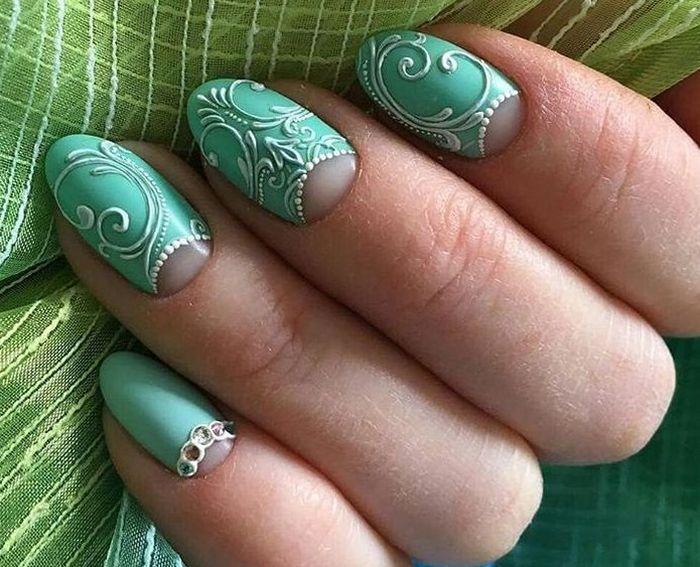 нейл арт коротких ногтей
