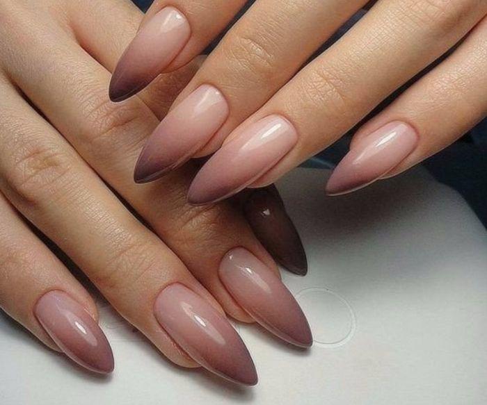 гардиент на овальных ногтях