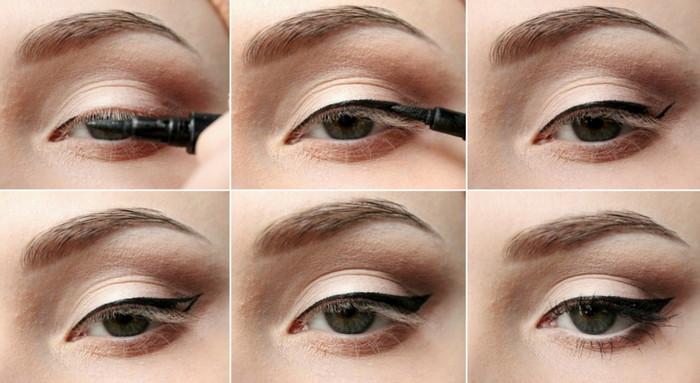 стрелки макияж пошагово