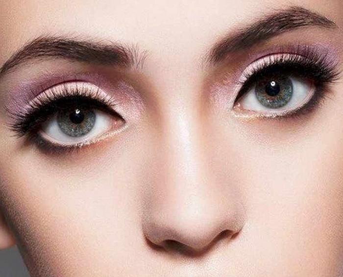 круглые глаза макияж