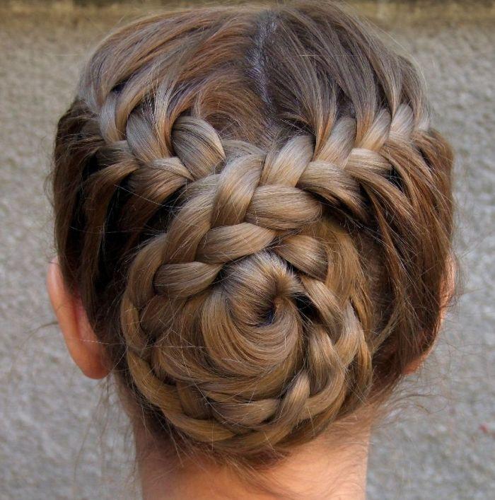 прическа с косами для девочки