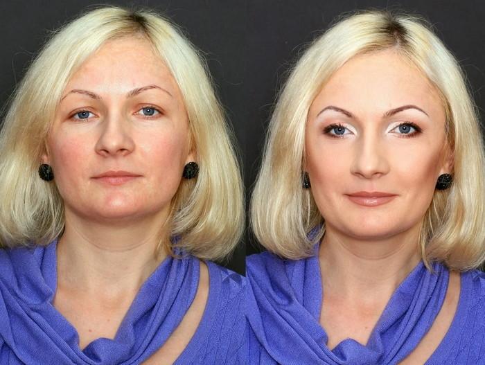 макияж для женщин после 55 чтоб выглядеть моложе своих лет