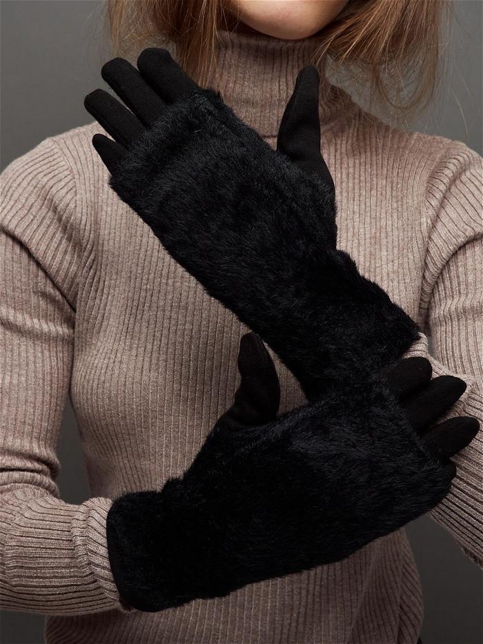перчатки длинные зимние