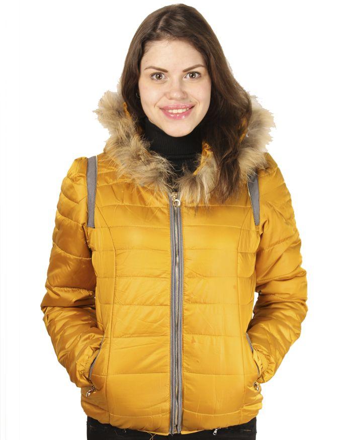 желтая куртка осень зима