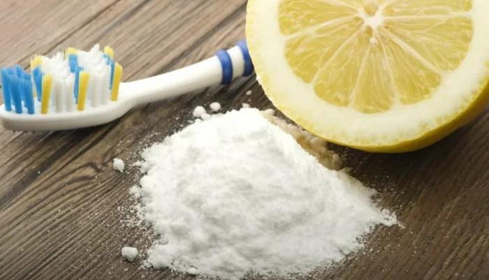 отбеливание зубной эмали при помощи соды и лимона